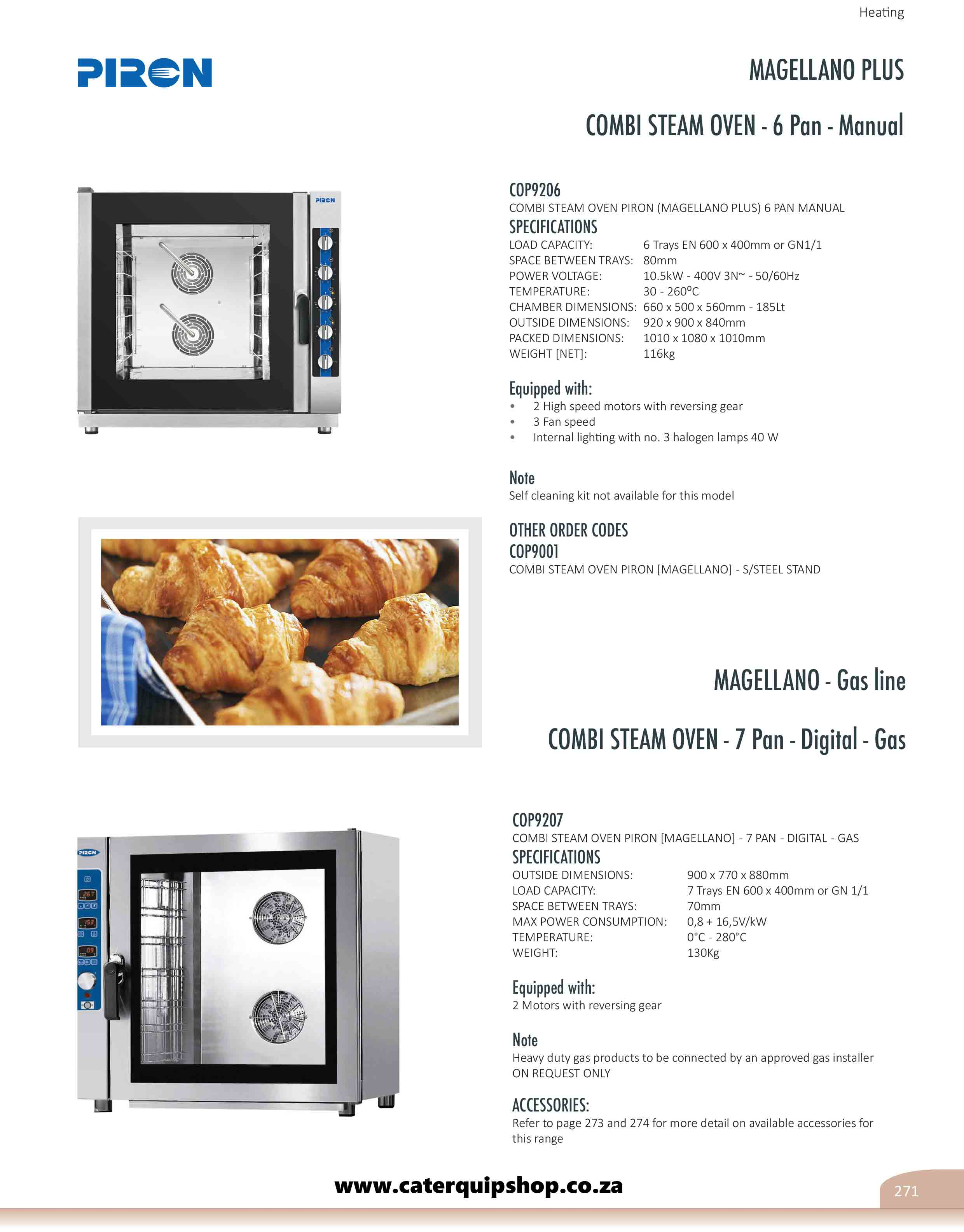 All In One Catering Equipment Home Page Electric 6 24kw Open Radiant Elements 2 1 Gn Oven With 4 Rack